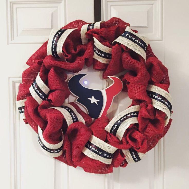 Houston Texans Wreath Texans Wreath Burlap Wreath