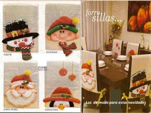 Kit Imprimible Patrones Bellos Forros De Sillas Navideños - Bs. 400,00
