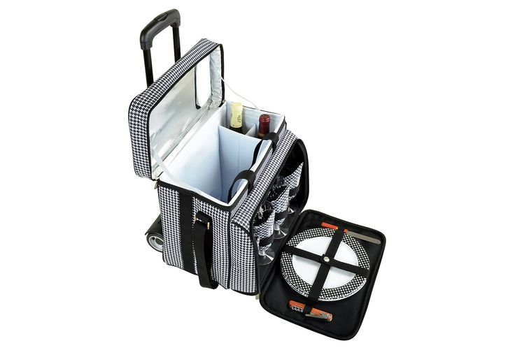 One Kings Lane - A Day in the Park - Bold Picnic Cooler for 4 w/ Cart
