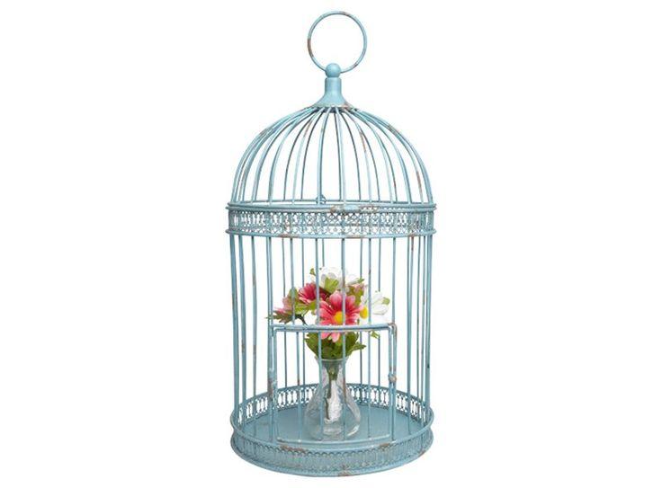 Bij de lente horen vogels. Maar als je liever geen echte vogel in huis haalt, is deze decoratieve vogelkooi misschien iets voor jou. Je kunt hem versieren met bloemenslingers, of er een mooi boeket of kunstwerk in presenteren!