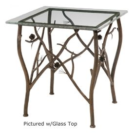 rustic pine side table wrought iron home decor pinterest table rh pinterest com