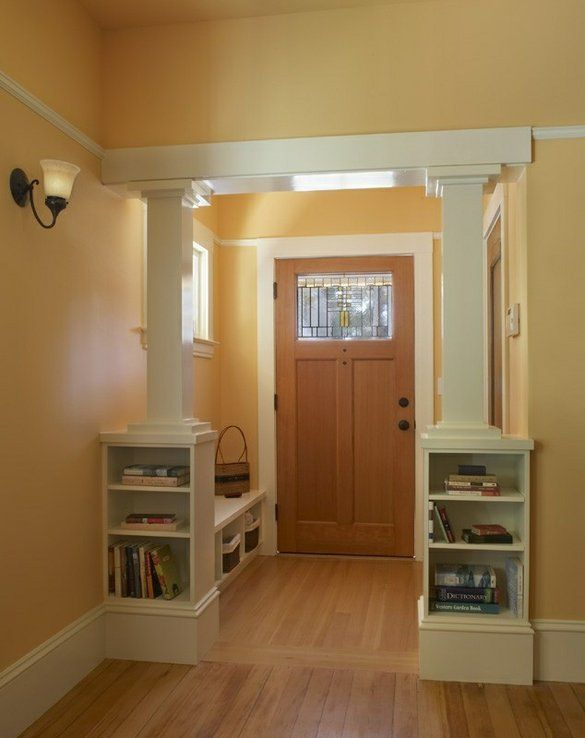 Entry Foyer Plans : Craftsman foyer with interior columns home