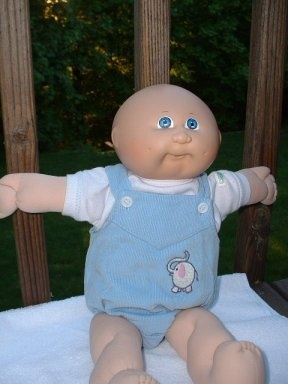cabbage patch doll - I had this one but the poor thing always just wore his diaper.