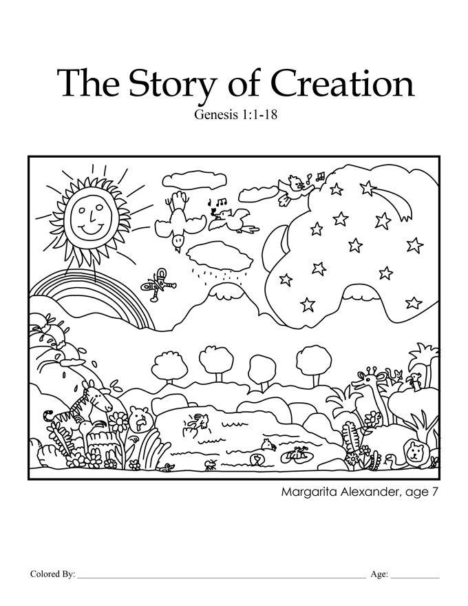 creation coloring pages for preschoolers Creation Genesis 11 18