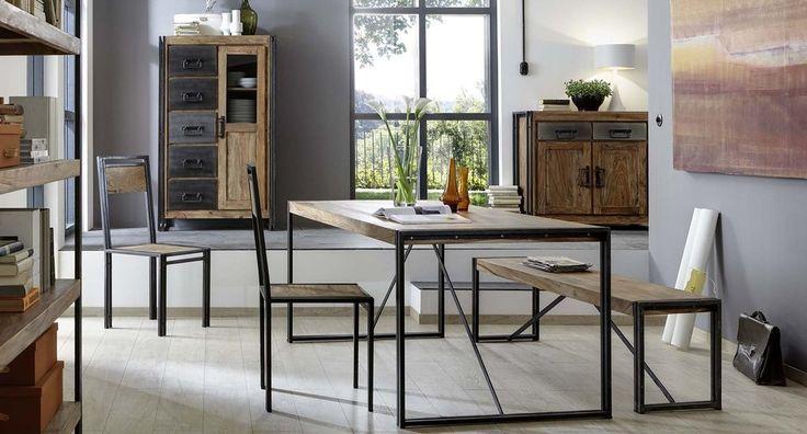 die besten 25 esstisch holz metall ideen auf pinterest esstisch holz holztisch beine und. Black Bedroom Furniture Sets. Home Design Ideas
