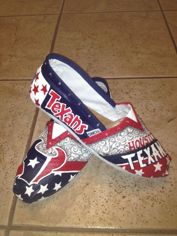 Houston Texans hand painted TOMS by solespirit on Etsy, $130.00    PLEASEPLEASEPLEASEPLEASE!