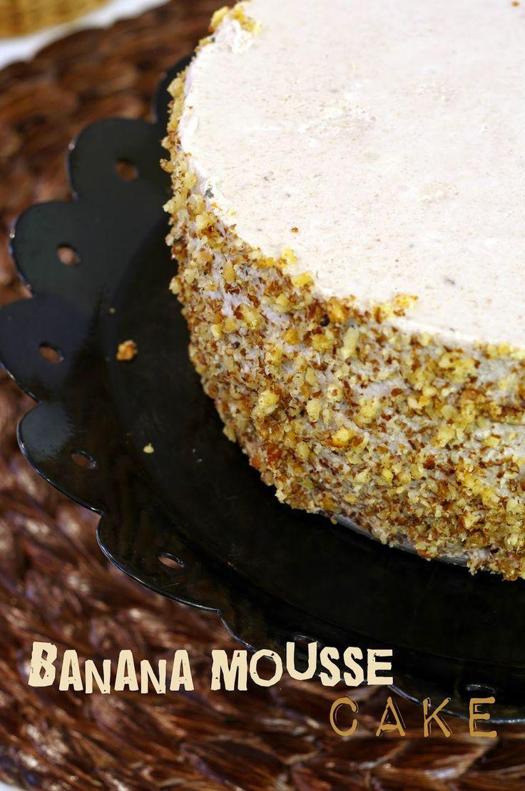 Szofika a konyhában...: Banános joghurt mousse torta