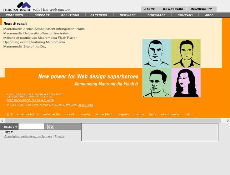 Macromedia website in 2000