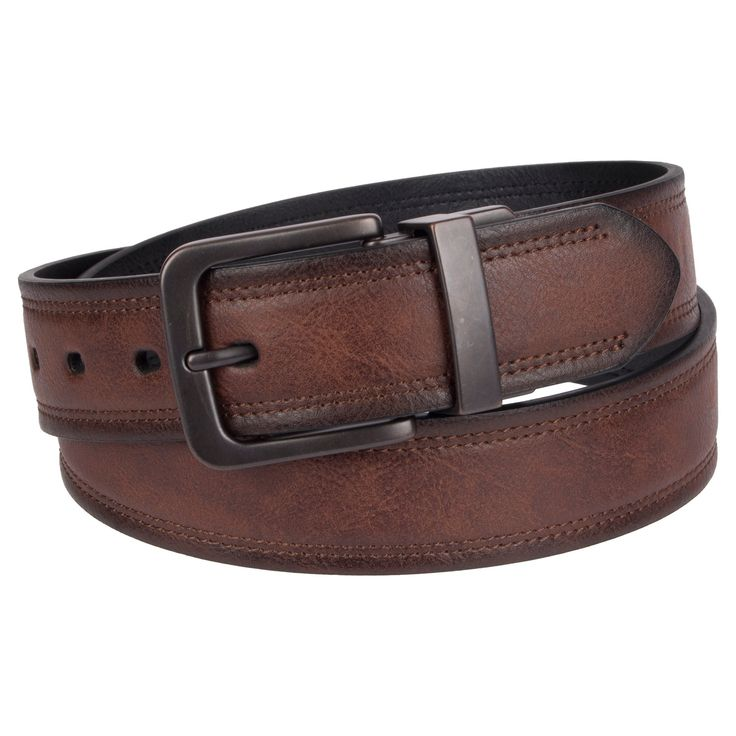 Denizen from Levi's Men's Brown Out Reversible Belt - Brown M, Multicolored
