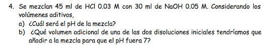 Ejercicio 4, propuesta 2, JUNIO 1998. Examen PAU de Química de Canarias. Tema: ácido-base.