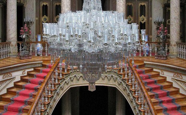 Araña de Cristal de bohemia en el Palacio Dolmabahce