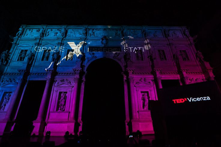 Projection light show at the end of the event  #TEDxVicenza #PlantingTheSeeds #TEDx #Vicenza