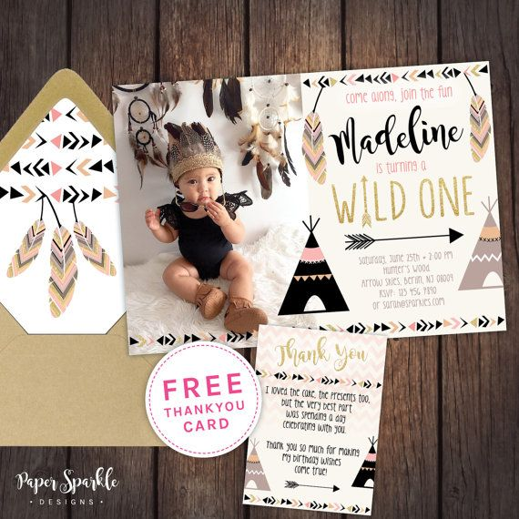 Hey, I found this really awesome Etsy listing at https://www.etsy.com/listing/285033680/wild-one-invitation-first-birthday