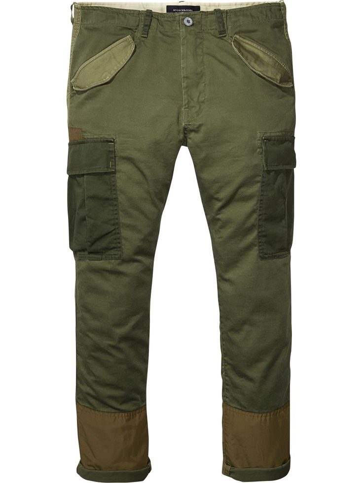 Patched Cargo Pants | Slim Tapered fit | Denims | Men Clothing at Scotch & Soda