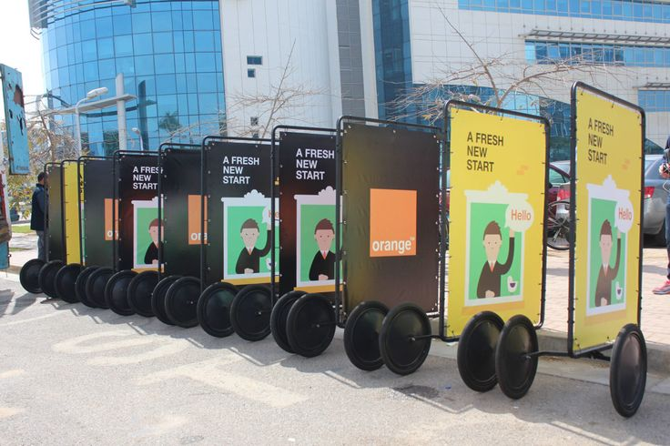Adbike Trailer fleet // cost-effective mobile billboards for outdoor advertising campaigns.