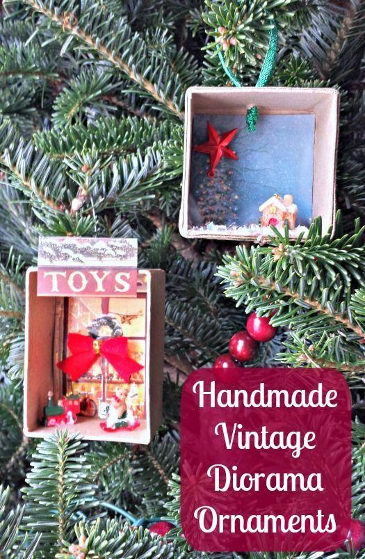Christmas Crafts for Kids - Handmade Vintage Diorama Ornaments #Christmas #Education