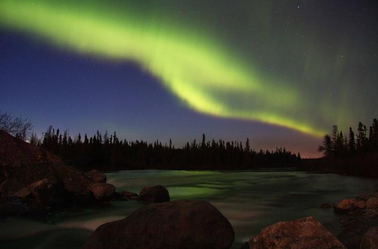 Wave aurora near Labrador City, Canada, May 18, 2013.