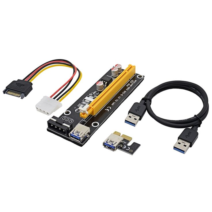 210$  Watch more here - NOTAYO 50sets 0.6M PCI Express PCI-E 1X to 16X Riser Card Extender with USB 3.0 Cable + Molex Power Cord for Bitcoin Miner   #buymethat
