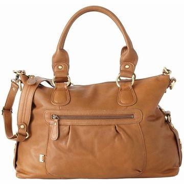 Oi Oi Tan Leather Tote Diaper Bag