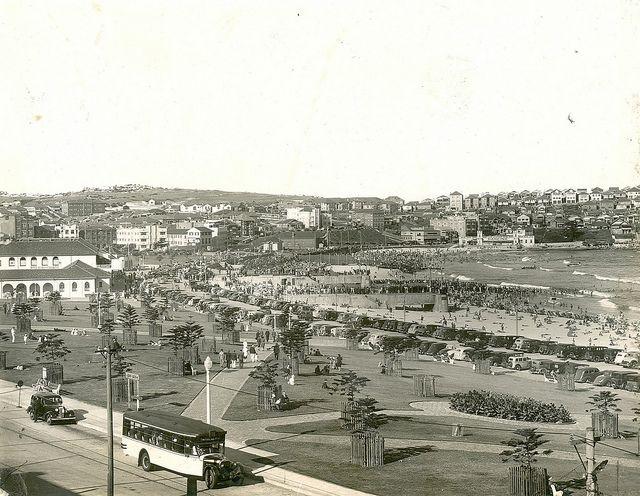 c. mid 1930's. Bondi Beach, Sydney, NSW