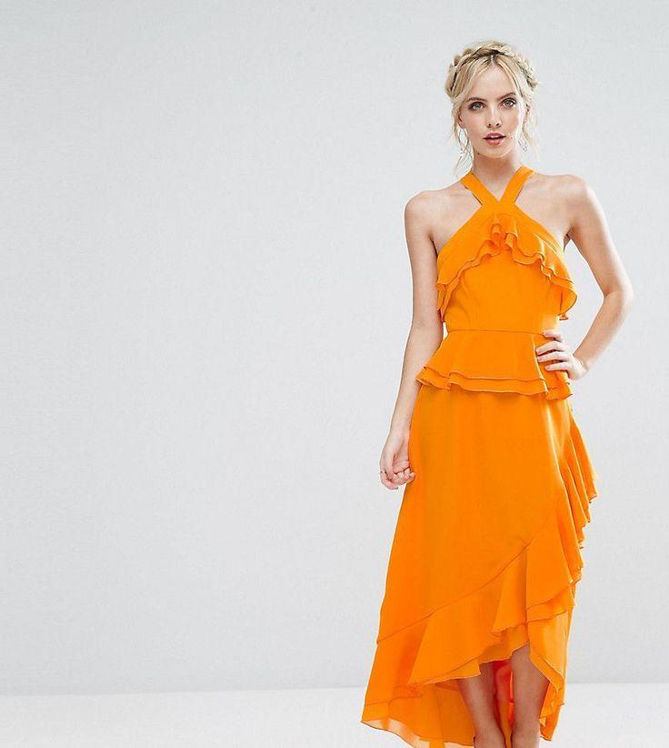 Image result for asos dress crop top halter orange