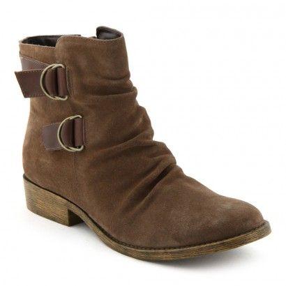 Boots/Bottines Cuir marron pour Femme : Boots/Bottines Cable - 57,99€
