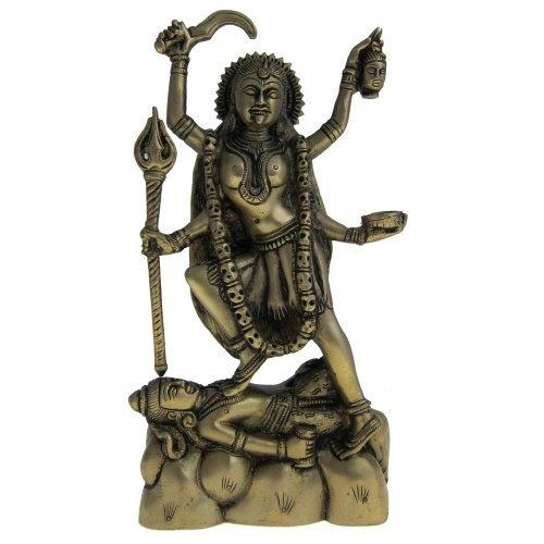 Amazon.com: Religious Statue Hindu Goddess Kali Brass Sculpture: Home & Kitchen