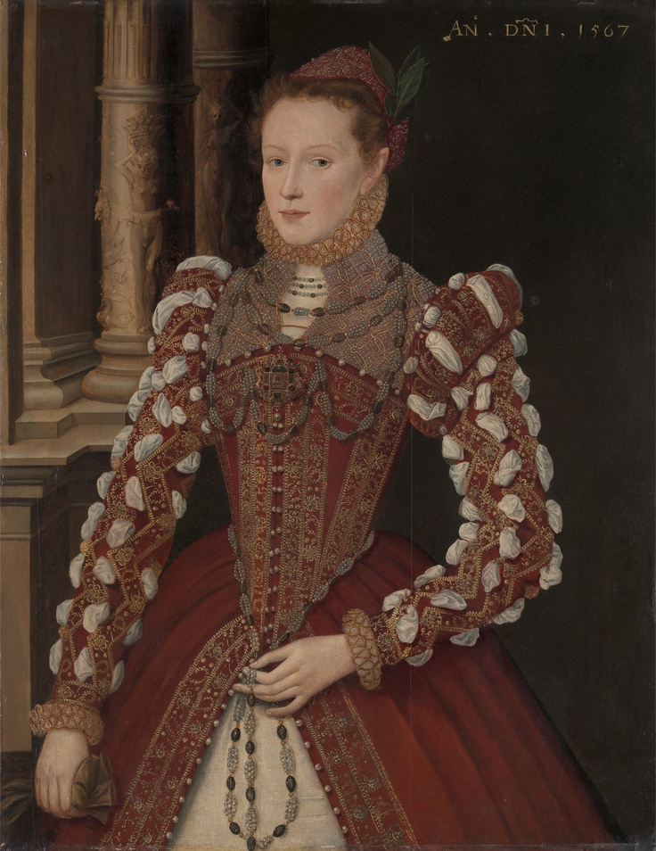 "1567_Unknown Lady known as ""Portrait of a Woman"" and ""A Young Lady, dated 1567"". Artist: Steven van der Meulen. Yale Centre for British Art"