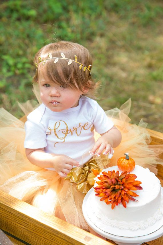 Fall first birthday outfit /Gold one birthday outfit /Fall One outfit/Pumpkin…