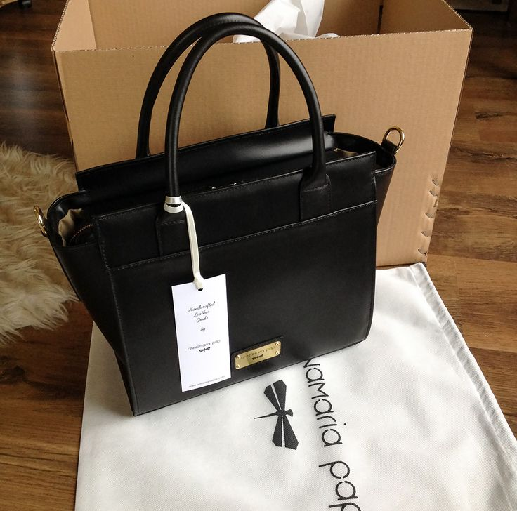 black LORIENT leather bag by Annamaria Pap