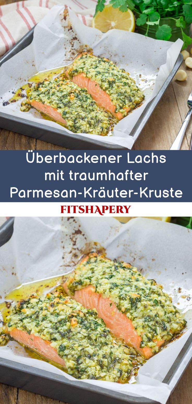 Low Carb Lachs mit Parmesan Kräuter Kruste - Traumhaftes Rezept