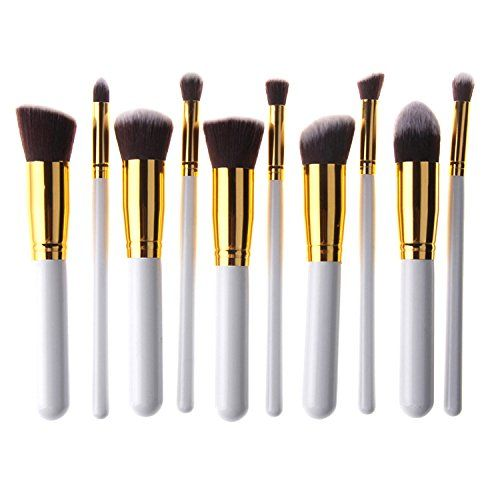 Unimeix 10 pcs Premium Synthetic Kabuki Makeup Brush Set Cosmetics Foundation Blending Blush Eyeliner Face Powder Brush Makeup Brush Kit (White Golden) Unimeix http://www.amazon.com/dp/B00RG7IYCQ/ref=cm_sw_r_pi_dp_8SBvvb1BQXH93