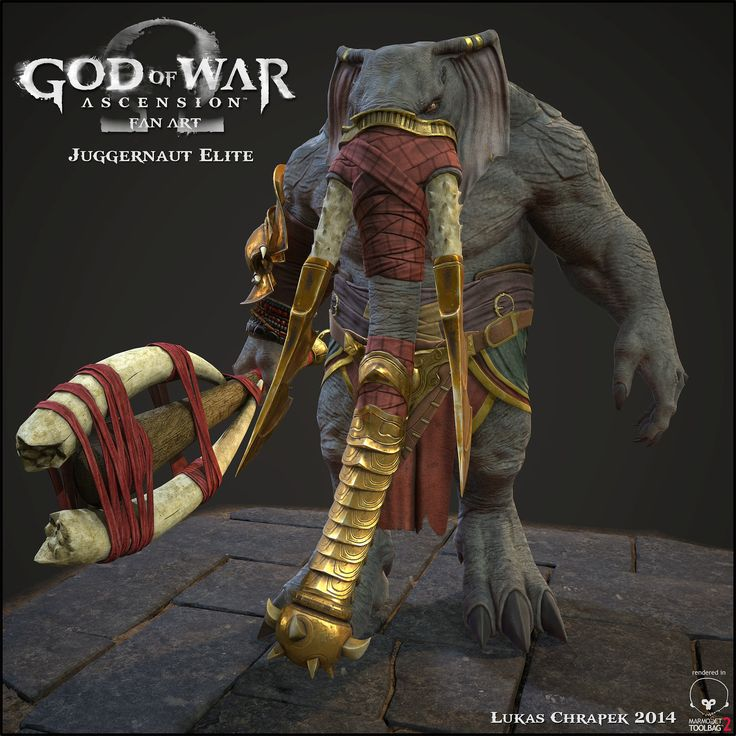 Juggernaut Elite - God of War Fan Art, Lukas Chrapek on ArtStation at https://www.artstation.com/artwork/4bedY