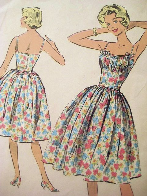 Authentic vintage sewing patterns: This is a fabulous original dress making  pattern, not a copy. Because the sewing patterns are vintage and preowned, we check each vintage sewing pattern for completeness, for the pattern pieces and the instruction sheet. In many cases the vintage patterns have never been used and are uncut and factory folded.