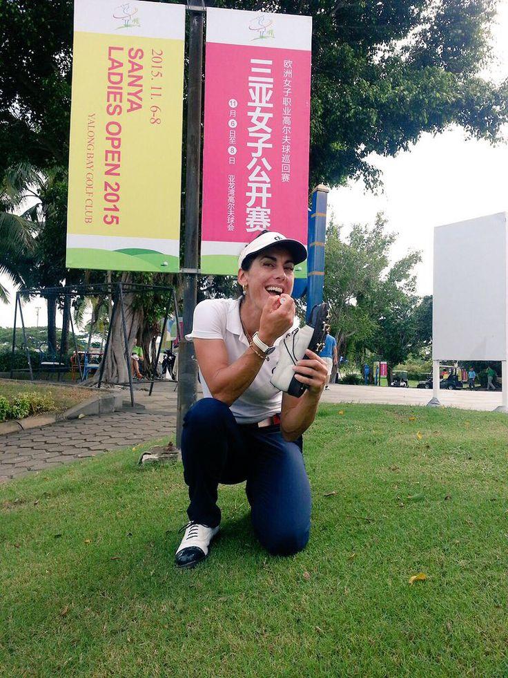 Stefania Croce  in Korea indossa Raimondi...  #Raimondi #raimondigolfshoes #golf #shoes #golfshoes #italianstyle #handmadeinitaly #italy #originali #madeinitaly #stefaniacroce #sanyaladiesopen2015