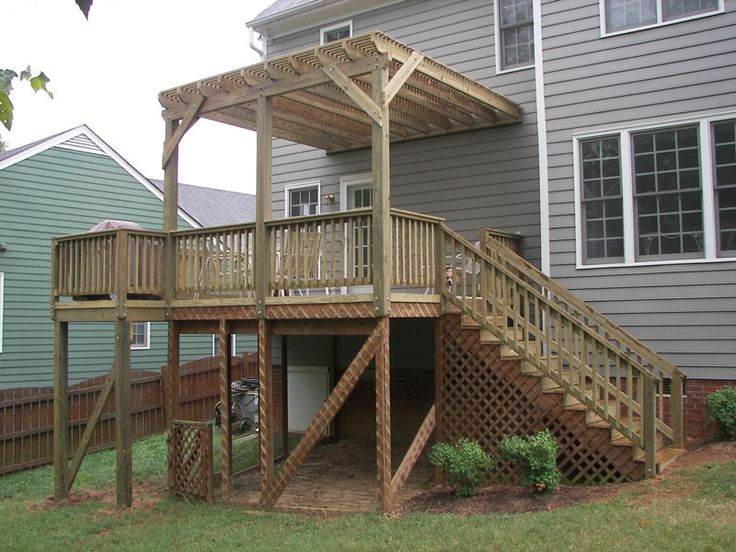 17 best images about covered decks on pinterest custom for Second story deck designs