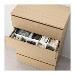 MALM 6-drawer chest - white stained oak veneer - IKEA