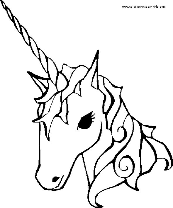 unicorn coloring pages to print | unicorn color page fantasy medieval coloring pages, color plate ...