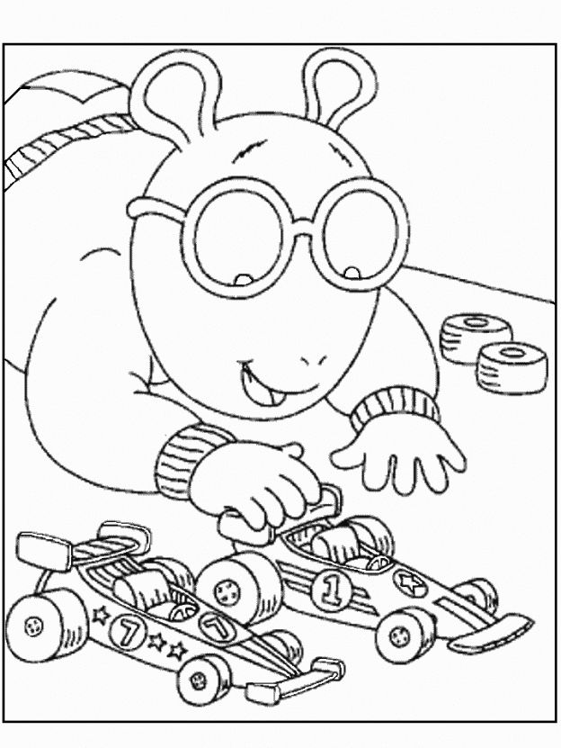 coloring pages arthur and friends - photo#24