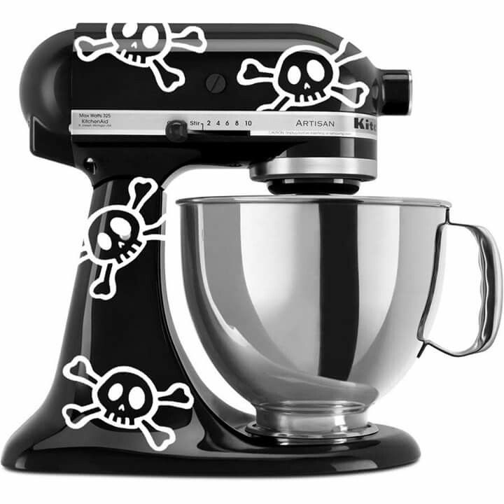 KitchenAid Fun Skull & Crossbones Vinyl Decals- Set of 8