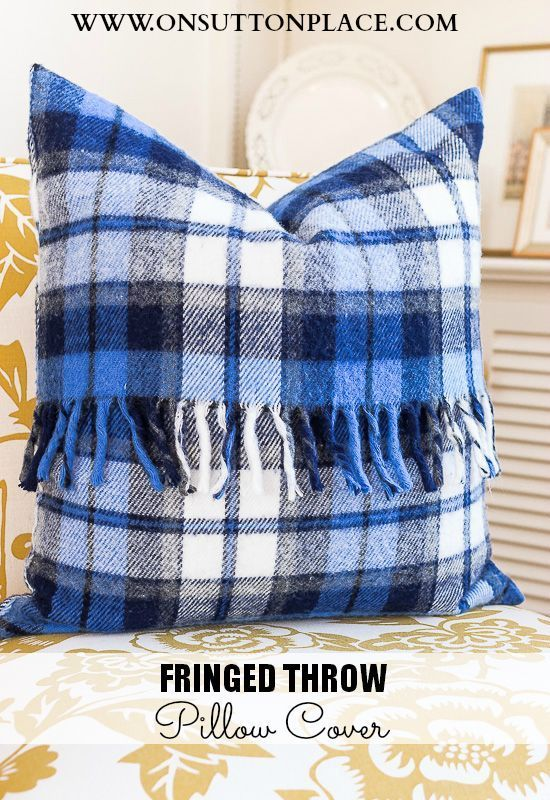 Fringed Throw Pillow Cover Feather My Nest Diy Pillow