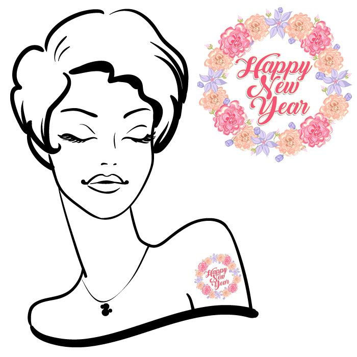 HNY 2017 Flower ChildTemporary Tattoos#45 (24 pack) *FREE SHIPPING* If you're buying tattoos only we would like to offer you Free Shipping. Use the discount code:S...
