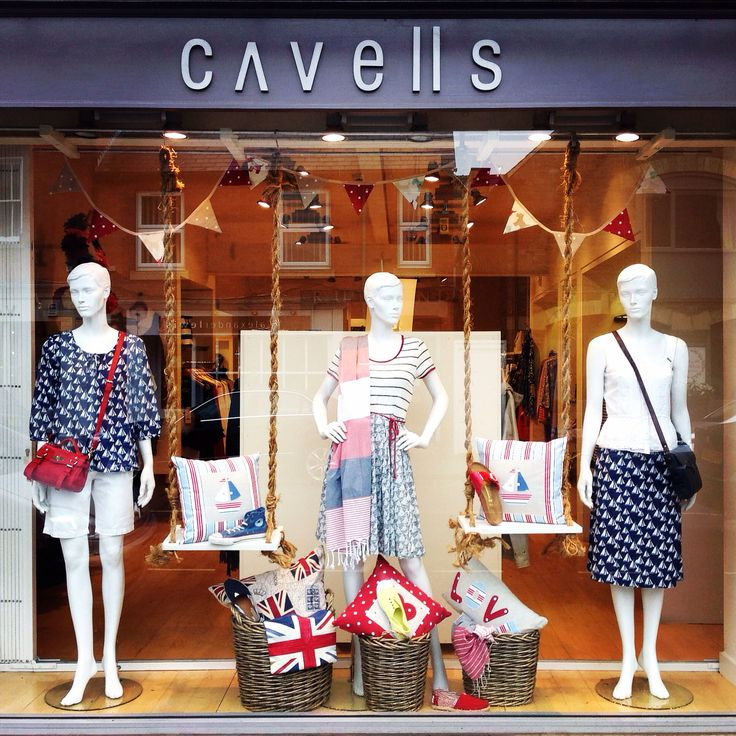 Sailing into summer in Cavells window