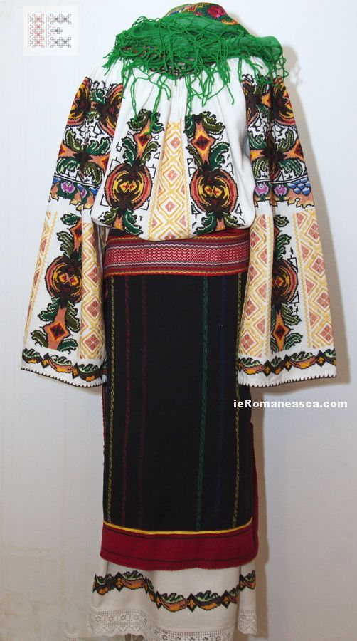 Costume from Bukovina - hand embroidered and hand woven.