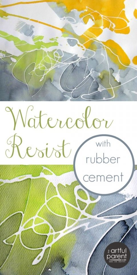 Rubber Cement Watercolor Resist Art
