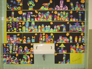 Lines, Dots, and Doodles: 1st Grade, Paul Klee Project