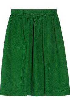 See by Chloe   High-waisted cotton-canvas skirt  #skirtforsummer