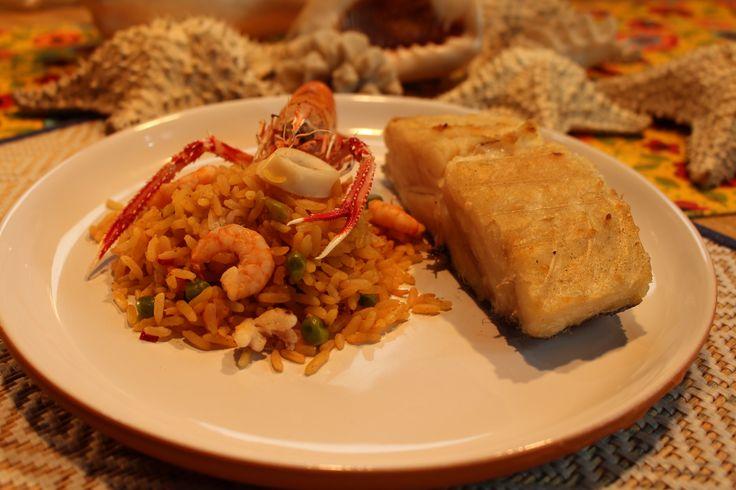 Receita de churrasco de bacalhau, e paella de frutos do mar, também feita na churrasqueira!