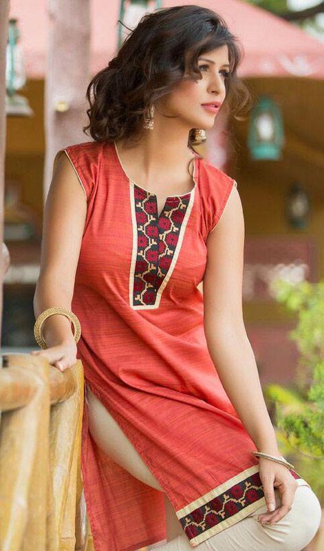 Red Shade Cotton Tunic Price: Usa Dollar $71, British UK Pound £42, Euro52, Canada CA$ 77, Indian Rs3834.