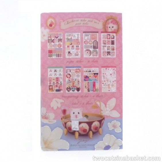 Set de Pegatinas Choo Choo Pink Edition - TWO CATS IN A BASKET
